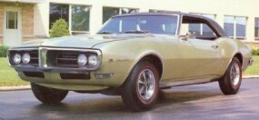 The 1968 Pontiac Firebird 350 had few visual and mechanical changes from the 1967 models.