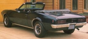 The 1968 Pontiac Firebird Sprint convertible had a 215 horsepower engine and a four-speed manual transmission.