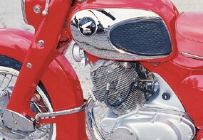 The heart of the Dream 305 was its smooth 305-cc single overhead-cam twin. It used a four-speed transmission.