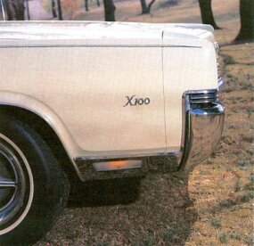 Trim detail on the 1969 Mercury Marauder X-100.