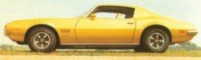 The five-spoke Rally II wheels were a very popular option for the 1970 1/2 Pontiac Firebird.