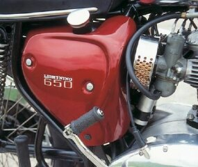 This was the last of BSA's under-seat oil tanks.