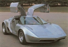 The Aerovette's gullwing doors were engineered to allow for opening in tight parking spots.