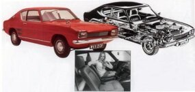 A British prototype of the Capri wears a rear-quarter window design different from the production version.