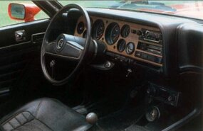 Full instrumentation came standard on the V-6 models in 1973.