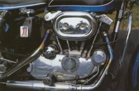The 1971 Harley-Davidson XLH Sportster came equipped with an 883-cc engine.