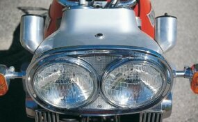 Dual headlights were a Munch trademark.
