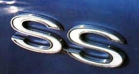 "The SS badges on the Chevelle coupe stood for ""Super Sport."""