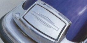 Chrome trim on the front fender had become standard by the time of the 1973 Harley-Davidson FL Electra-Glide.