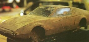 This photo of a Bricklin clay shows the basic design very close to what was ultimately adopted for production.