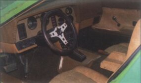 The interior of the 1975 Bricklin SV-1 was little changed from 1974.