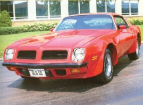 The 1974 Pontiac Firebird Trans Am was given a more aerodynamic front end.