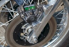 Huge Brembo disc brakes were used front and rear and were of competition caliber.