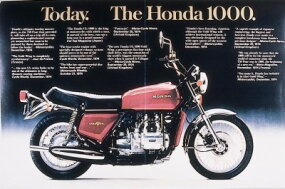 An early Gold Wing ad consisted of little more than glowing reports from various motorcycle magazines.