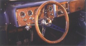 Features on the 1975 Leata included a woodgrain dash.