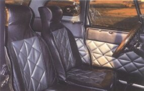 "The interior styling of the 1975 Leata was dubbed ""Kustom Kar."""