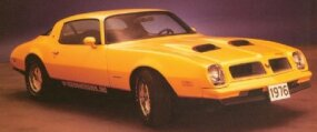The 1976 Pontiac Firebird Formula bold graphics option helped boost the Formula's image -- and sales.