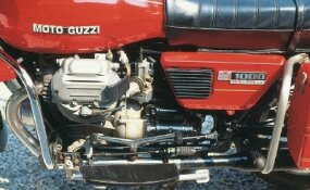 Moto Guzzi's Convert system meant the rider need neither shift nor de-clutch when coming to a stop -- a boon in stop-and-go traffic.