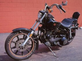 The 1981 Harley-Davidson FXB Sturgis is an updated version of the 1978 Harley-Davidson FXS Low Rider.