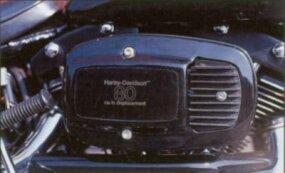 The 1981 Harley-Davidson FXB Sturgis has an all belt-driven drivetrain.