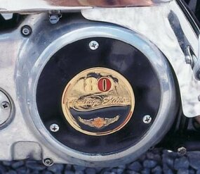 A Heritage Edition emblem graced the engine's primary cover.