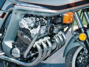 The CBX's signature was its engine's waterfall of gleaming exhaust pipes, one for each of six cylinders.