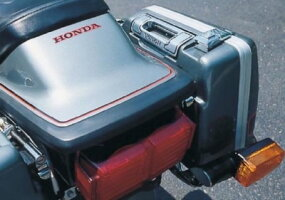 The CBX's rear saddlebags could be detached and carried like a briefcase.