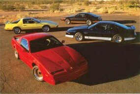 A quartet of 1987 Pontiac Firebirds