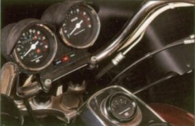The hooded instrument panel emphasized the FXRT's touring ability.