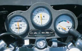 The gauges were prominently displayed, with the tachometer taking center stage.