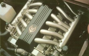 Cadillac developed Solitaire's 48-valve V-12 engine in conjunction with the Lotus company.