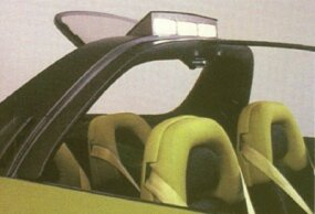 Rising above the seats of the Stinger was a roof light-bar and spoiler.