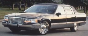 The 1993 Cadillac Fleetwood Brougham's styling had traditional touches.