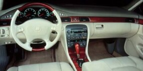 Pictured here is the interior of Cadillac's most expensive 1998 model -- the 1998 Cadillac Seville STS.
