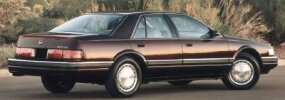 The pricey 1992 Cadillac Seville had new, more elegant styling.