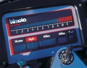 Instrumentation put more emphasis on rpm than speed.