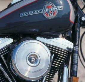 The thumping 80-cubic-inch Evolution V-twin was one of the standard Harley mechanics featured on the 1993 FXDWG Wide Glide.