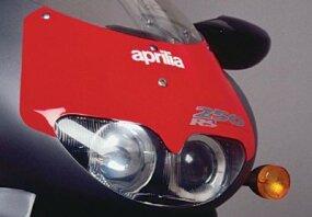 Aprilia balanced form and function with sleek aerodynamic styling.