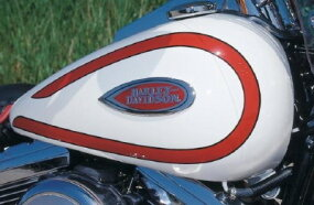 1997 Harley-Davidson FXSTS Heritage Springers were available in white with red or blue trim