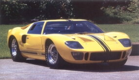 """Tricky handling experienced by drivers who shook down the Ford GT at the Le Mans test days in 1964 spurred Ford to head to the wind tunnel for further testing. One of the results was a reshaped nose with a deeper """"chin."""""""