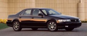 Seville sales dropped in the early 2000s. The 2002 Cadillac Seville is pictured here.