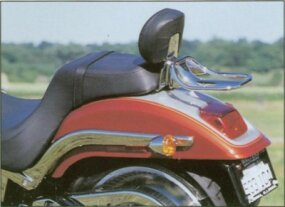 The 2000 Harley-Davidson FXSTD Deuce featured a straight-cut rear fender.