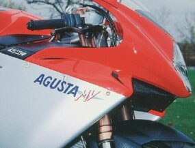 The MV Agusta logo followed the design on the last of the originals in the late 1970s.