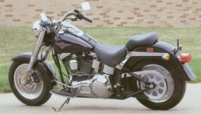 The 2002 Harley-Davidson FLSTF Fat Boy underwent changes that were mainly mechanical.