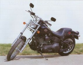 The 2002 Harley-Davidson FXSTB Night Train is powered by a Twin Cam 88B engine.