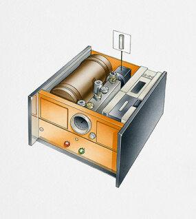 Cesium atomic clock