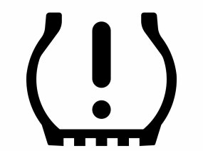 TPMS low pressure warning icon