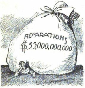 political cartoon 1921, reparations Germany