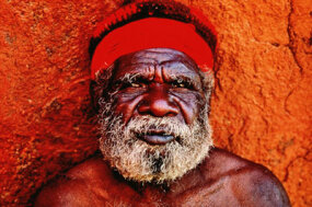 Pete Turner/Getty Images The features of this Aboriginal man are typical of the race.