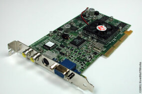 Typical example of an AGP-based graphics card